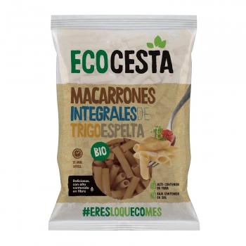 Macarrones de espelta ecológicos Ecocesta sin lactosa 500 g.