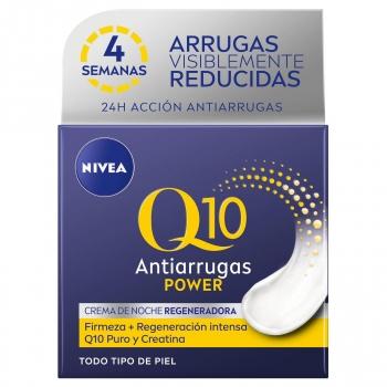 Crema facial cuidado de noche con Q10 natural & creatina Q10 Power Antiarrugas + Firmeza Nivea 50 ml.