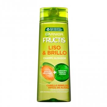 Champú alisador Liso & Brillo para cabello liso, rebelde o difícil de alisar Garnier-Fructis 360 ml.