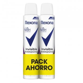 Desodorante en spray Invisible Rexona pack de 2 unidades de 200 ml.