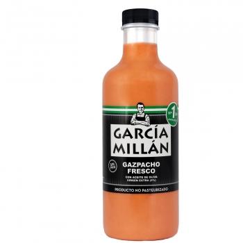 Gazpacho fresco con aceite de oliva extra Gracia Millan sin lactosa botella 1 l.