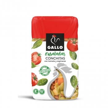 Conchitas de tomate y espinacas Gallo 450 g.
