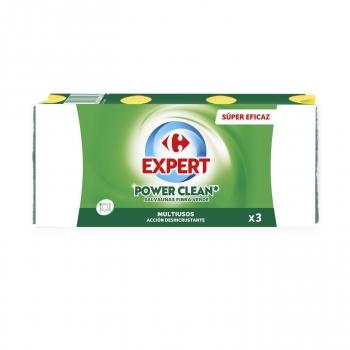 3 Estropajos salvauñas Carrefour - Verde