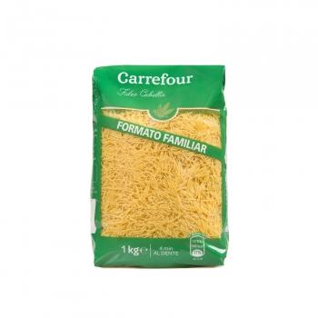 Fideo cabellín Carrefour 1 kg.