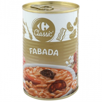 Fabada asturiana Carrefour sin gluten 440 g.