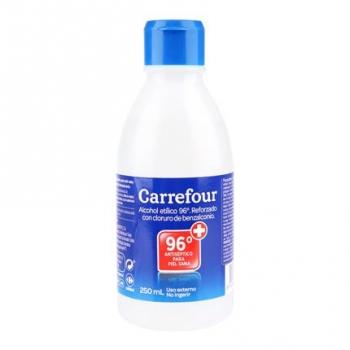 Alcohol 96º Carrefour 250 ml.
