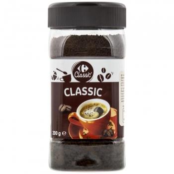 Café soluble natural Carrefour 200 g.