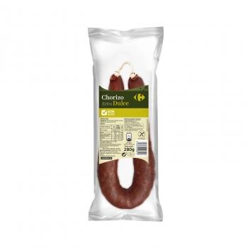 Chorizo extra dulce Carrefour sin gluten sin lactosa 280 g.