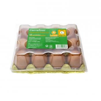 Huevos L morenos Carreofur 12 ud.