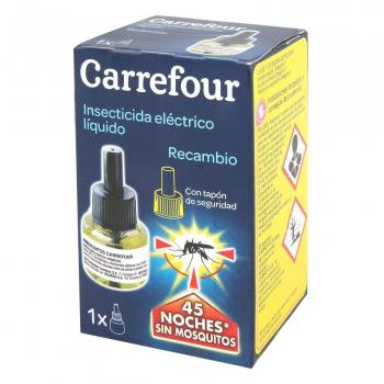 Insecticida eléctrico antimosquitos líquido recambio Carrefour 1 ud.
