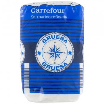 Sal marina gruesa Carrefour 1 kg.
