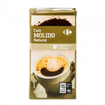 Café molido natural Carrefour 250 g.