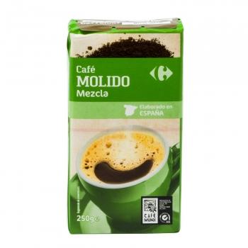 Café molido mezcla Carrefour 250 g.