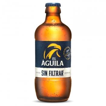 Cerveza rubia El Águila sin filtrar botella 33 cl.