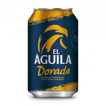 Cerveza rubia El Aguila lata 33 cl.