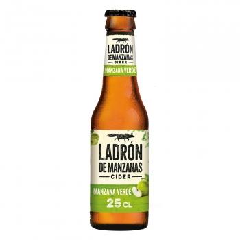 Cider Ladrón de manzanas sabor manzana verde botella 25 cl.