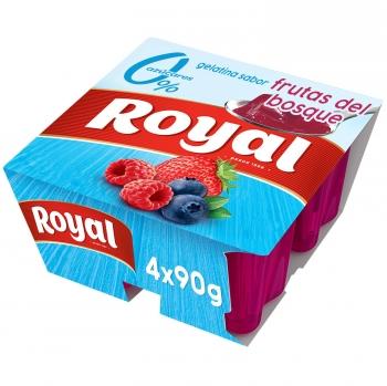 Gelatina sabor frutos del bosque sin azúcar Royal 400 g.