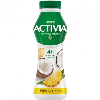 Yogur bífidus líquido piña y coco Danone Activia 280 g.