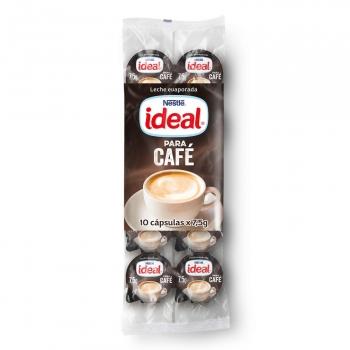 Leche evaporada Ideal Nestlé pack de 10 unidades de 7,5 g.