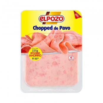 Chopped de pavo El Pozo sin gluten 225 g.