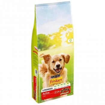 Pienso de buey para perro adulto Purina Friskies Vitafit Active 15 Kg.