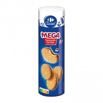 Galletas rellenas de crema de chocolate Mega Carrefour Classic 500 g.
