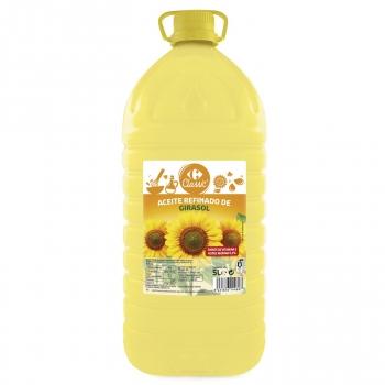 Aceite de girasol Carrefour garrafa 5 l.