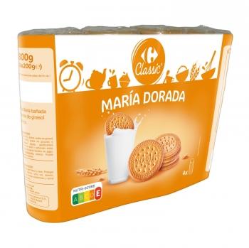Galletas María dorada Carrefour sin aceite de palma 800 g.