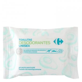 Toallitas desodorantes Carrefour 12 ud.