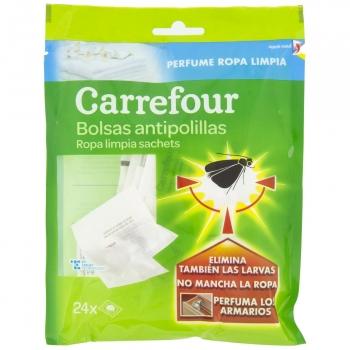 Bolsas antipolillas ropa limpia Carrefour 24 ud.