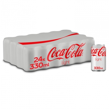 Coca Cola light pack 24 latas 33 cl.