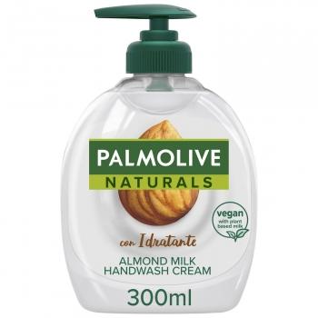 Jabón de manos líquido con leche de almendra limpieza y cuidado Naturals Palmolive 300 ml.