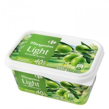 Margarina light con aceite de oliva Carrefour 500 g.