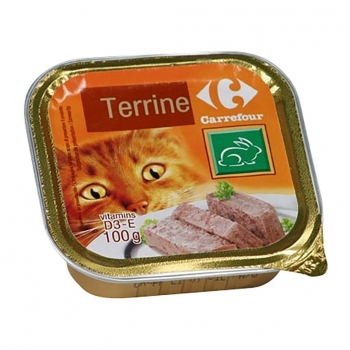 Alimento Húmedo para Gatos de Conejo 100 gr, Carrefour