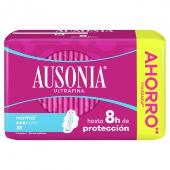 Compresas normal con alas ultrafina Ausonia 36 ud.
