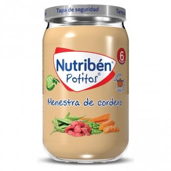 Tarrito de menestra de cordero desde 6 meses Nutribén 235 g.