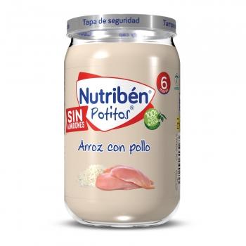 Tarrito de pollo con arroz desde 6 meses Nutribén 235 g.