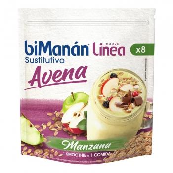 Smoothie sustitutivo avena sabor a manzana Línea BiManán 280 g.