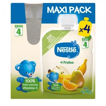 Preparado de 4 frutas Nestlé sin gluten pack de 4 unidades de 90 g.