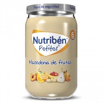 Tarrito de macedonia de frutas desde 6 meses Nutribén 250 g.