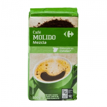 Café molido mezcla Carrefour 500 g.
