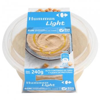Hummus light Carrefour sin gluten sin lactosa 240 g.