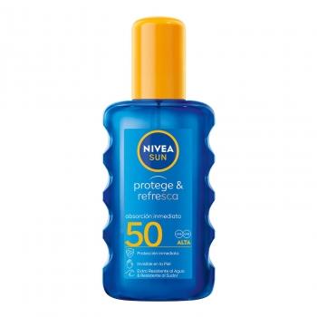 Spray solar Protege & Resfresca FP 50 Protección alta Nivea 200 ml.