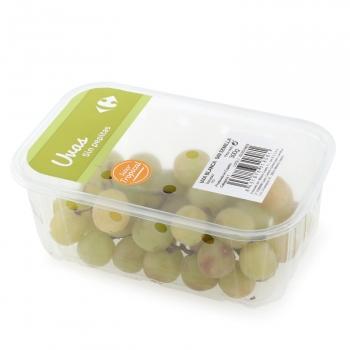 Uva blanca sin pepita sabor tropical Carrefour 300 g