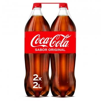 Coca Cola pack de 2 botellas de 2 l.