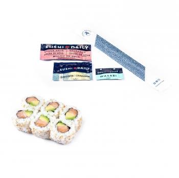 Maki california salmón y aguacate  Sushi Daily 6 piezas