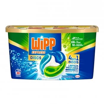 Detergente en cápsulas 4 en 1 limpieza profunda Wipp Express 30 ud.
