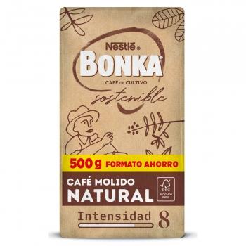 Café molido natural cultivo sostenible Nestlé Bonka 500 g.