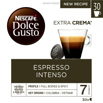 Café espresso intenso en cápsulas Nescafé Dolce Gusto 30 unidades de 7 g.