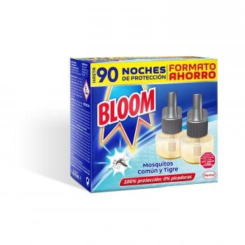 Insecticida eléctrico continuo anti mosquitos recambio Bloom 2 ud.